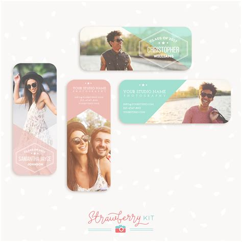 Millers Lab Rep Card Templates by Senior Rep Cards Templates For Photographers Strawberry Kit