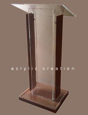 Jual Cermin Lembaran category podium mimbar acrylic akrilik acrylic display