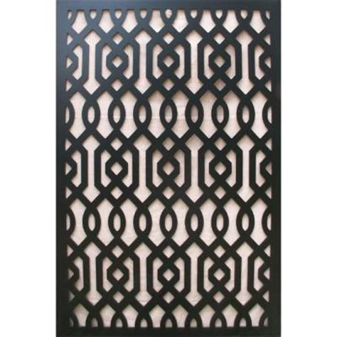 acurio latticeworks 1 4 in x 32 in x 4 ft black azzaria