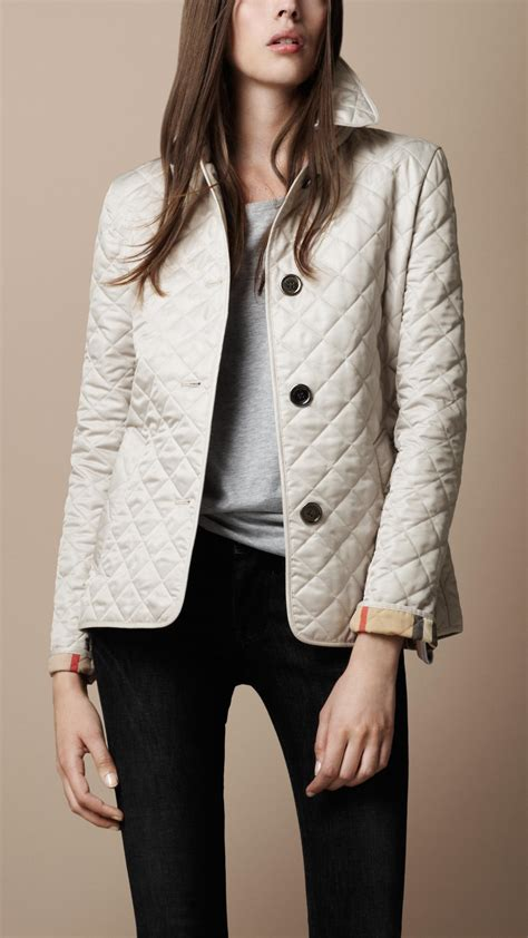 Quilted Jacket Burberry by Burberry Brit Cinched Waist Quilted Jacket In Lyst