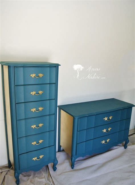 anew nature furniture st louis based furniture upcycling small business gold  teal french