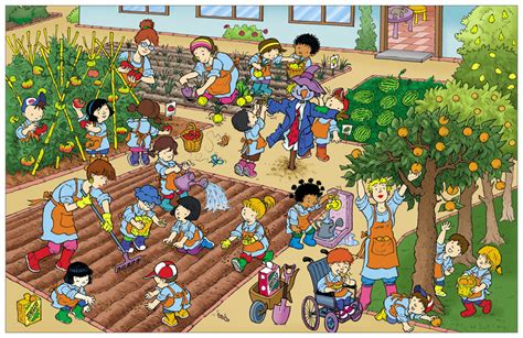 imagenes animadas varias cosas huerto escolar