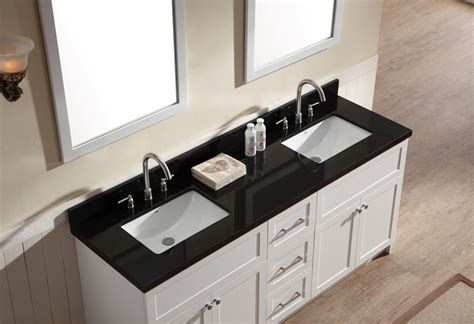 black sink white countertop ariel hamlet 73 quot sink vanity set with absolute