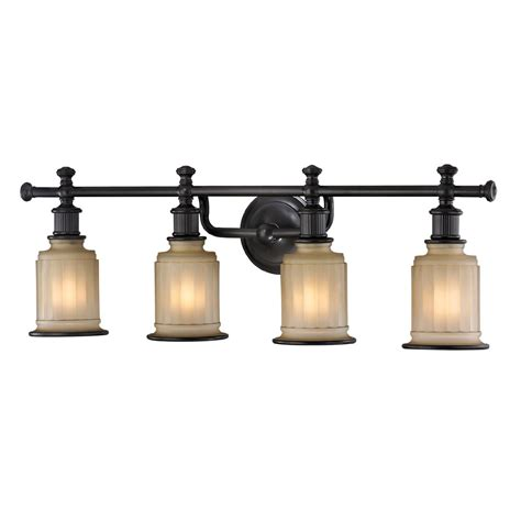 bronze bathroom light fixtures elk 52013 4 acadia oil rubbed bronze 4 light bathroom