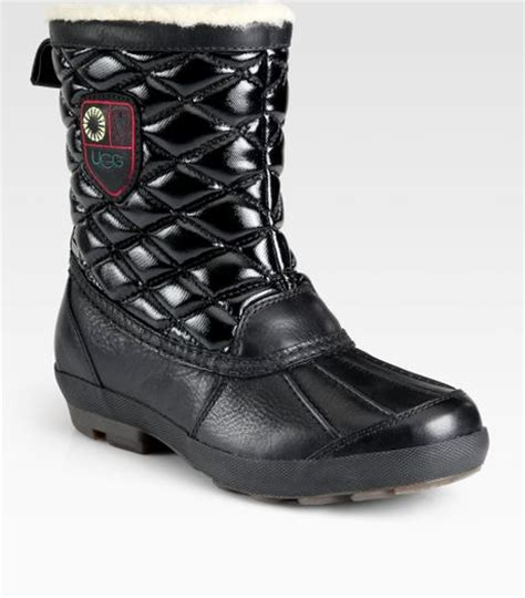 Ugg Quilted Boots by Ugg Bellegarde Quilted Leather Shearlinglined Boots In