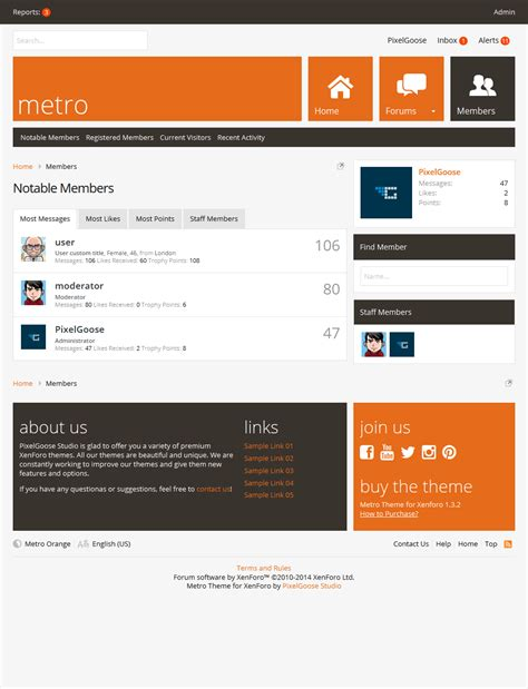 templates for xenforo metro xenforo responsive retina ready theme download zip