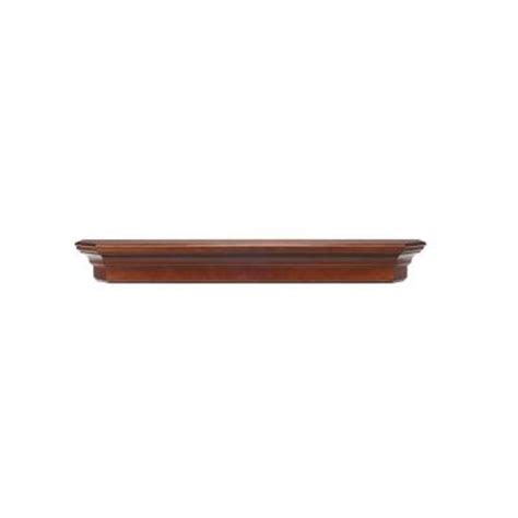 null the lindon 4 ft cherry distressed cap shelf mantel