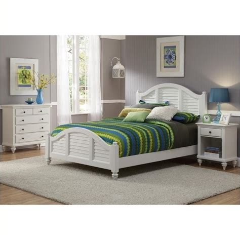 3 piece white bedroom set bowery hill 3 piece queen bedroom set in white bh 427275