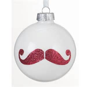 glitter moustache bauble by homebase christmas baubles