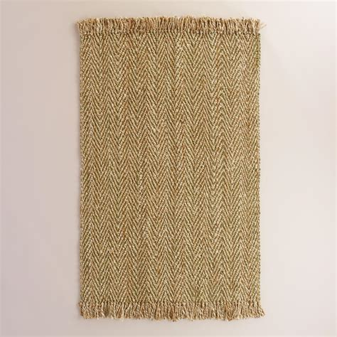herringbone area rug green herringbone woven jute area rug world market