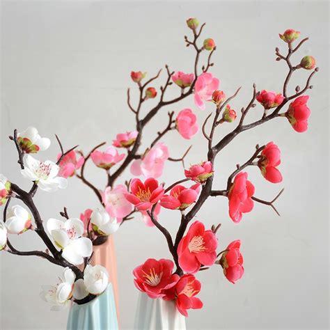 plum cherry blossoms artificial silk flowers flores