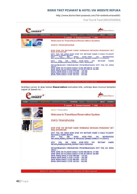 Tiket Tour Hotel bisnis tiket pesawat dan hotel dengan web replika