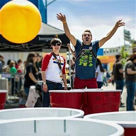 backyard beer pong giant beer pong painted trash cans yard pinterest