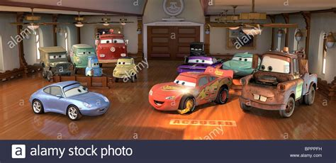 cars sally and lightning mcqueen sally lightning mcqueen mater cars 2006 stock