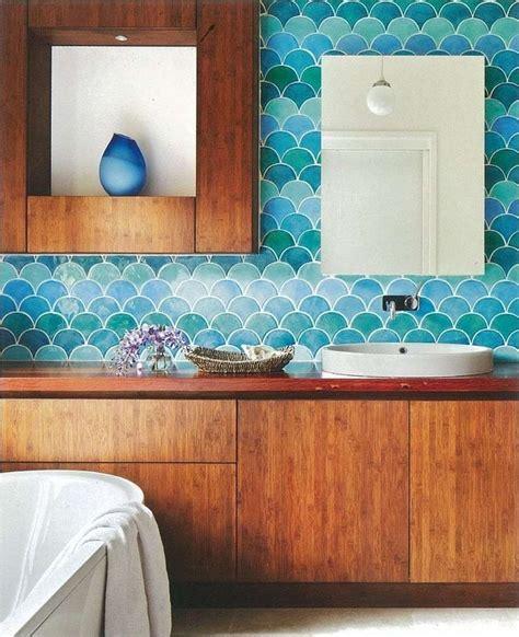 fish tiles bathroom fish scale tile interiors bathroom pinterest