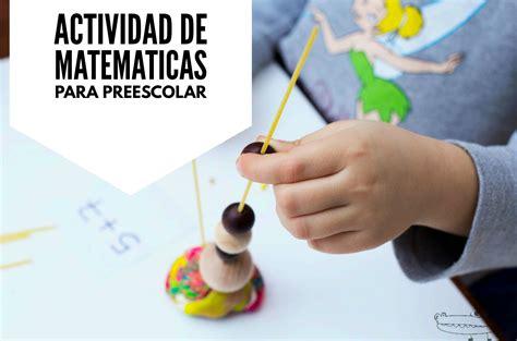 imagenes actividades matematicas para niños preescolar actividades de matem 225 ticas para ni 241 os de preescolar