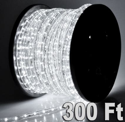 2 150 cool white led rope light 2 wire decorative home