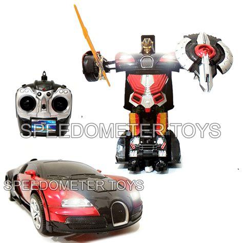 Mainan Mobil Tranformer jual rc transformers bugatti merah frek 2 4g mainan anak mobil robot remote speedometer toys