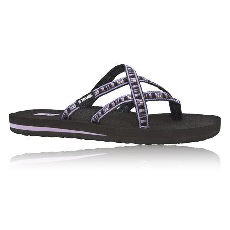Comfortable Walking Flip Flops by Teva Olowahu Womens Purple Black Walking Summer Shoes