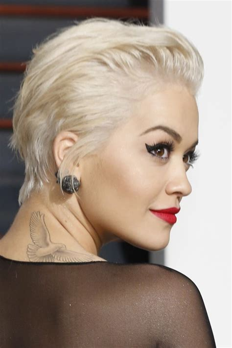 rita ora choppy hairstyles rita ora straight platinum blonde choppy layers hairstyle