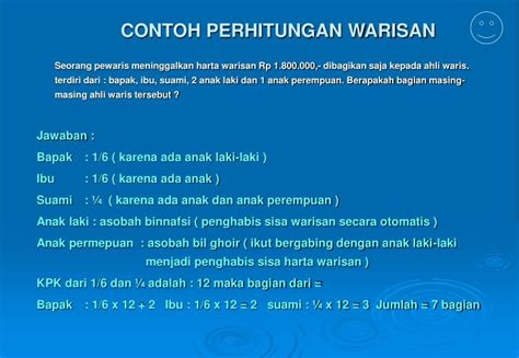 ppt mawaris powerpoint presentation id 5948696