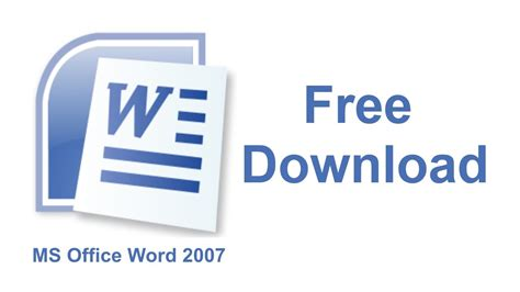 Word Office 2007 Ms Office Word 2007 Free