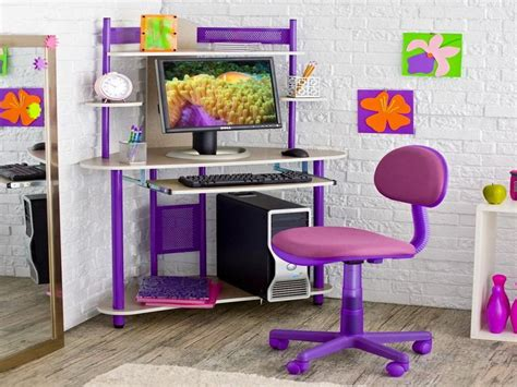 purple corner desk bloombety room ideas for with pink