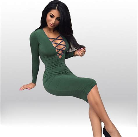 Dr02 Dress Wanita Bodycon Branded western brand bandage v neck sleeve bodycon cheap dress