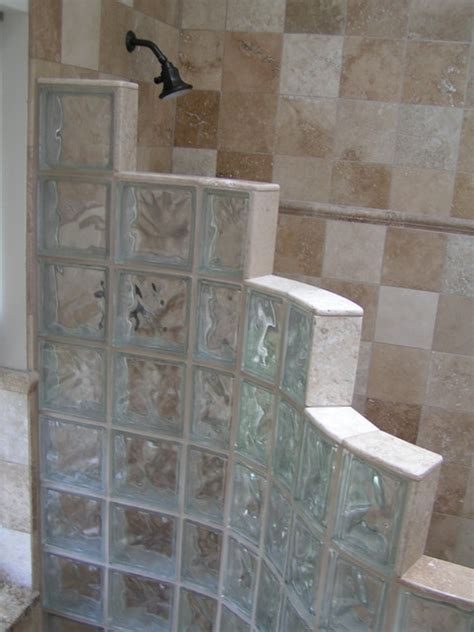 Glass Block Bathroom Ideas Master Bathrooms With Glass Block Interior Decorating Accessories