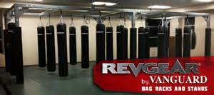 heavy bag rack system revgear cages rings bag slings are here revgear blog