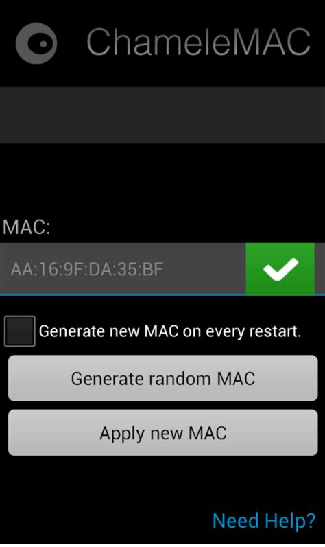 change mac address android best apps for change mac address in any android without root