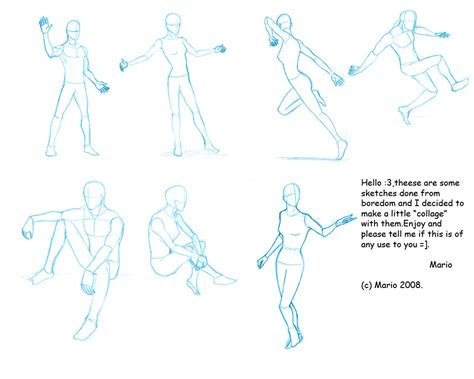 anime poses pose reference i by mario anime sketching pinterest