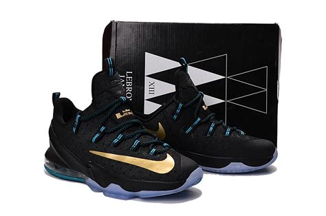 blue and gold basketball shoes lebron 13 xiii black blue gold basketball shoes