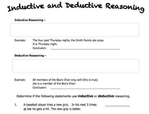 Deductive Reasoning Worksheets by Worksheet On Inductive And Deductive Reasoning By