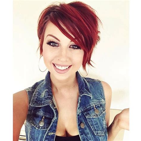 same haircut different color hair color thehairstylercom 15 best ideas about red pixie haircut on pinterest red