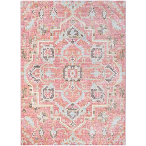 Surya Germili Pale Pink 2 Ft X 3 Ft Indoor Area Rug Pink Area Rugs
