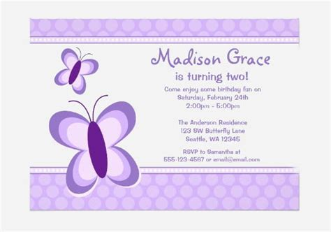 8 Butterfly Invitations Free Printable Psd Ai Eps Purple Invitation Template