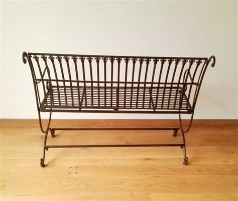 wrought iron bench ends large wrought iron bench europe end of 20th century
