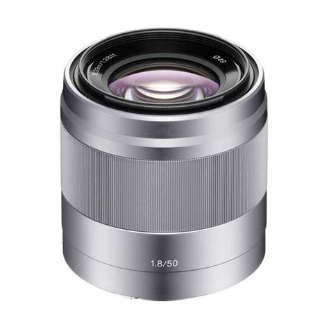 Sony Lensa Sel 35mm F1 8 Oss jual sony sel 50mm f1 8 oss lensa kamera silver