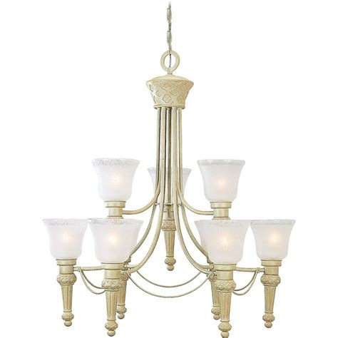 volume lighting alexandria collection 9 light golden coral