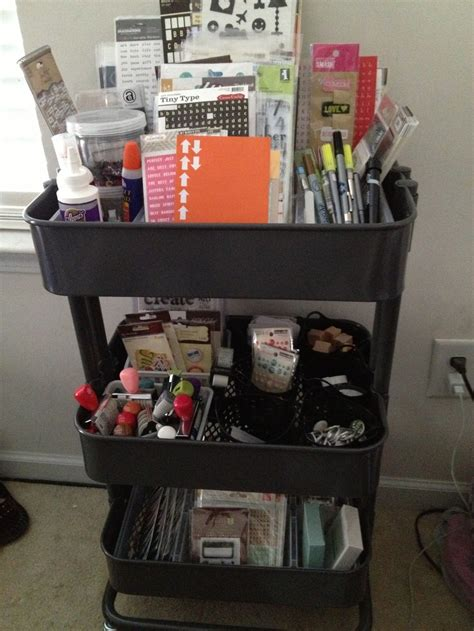 ikea raskog cart organization papercraft scrapbooking organization pinner says