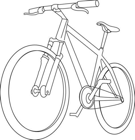 handlebars layout template bicycle coloring page free clip art