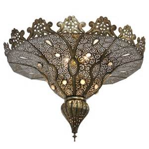 moroccan chandeliers pasha moroccan moorish brass chandelier at 1stdibs