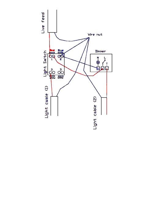 uk two wire dimmer wiring diagram how to wire a dimmer