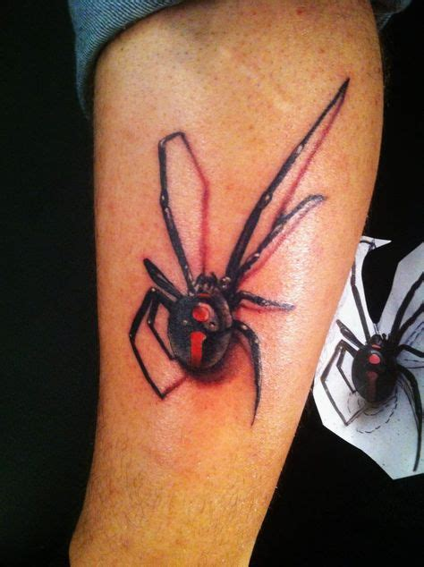 black widow spider tattoo designs 3d black widow spider on leg