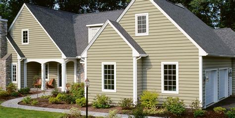 houses with different color siding types of siding for homes