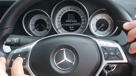 Mercedes C Class Maintenance Mercedes C Class W204 Service Light Reset 2007 2014