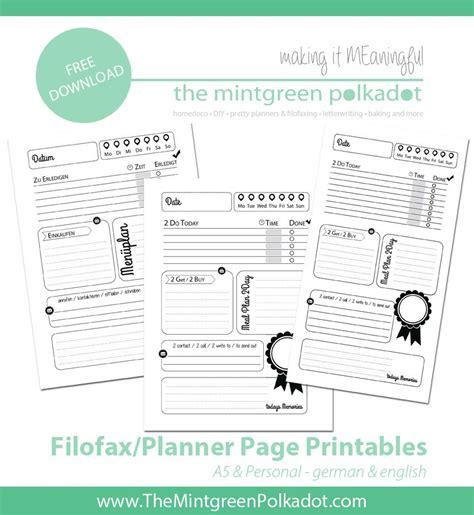 Free Filofax Printables