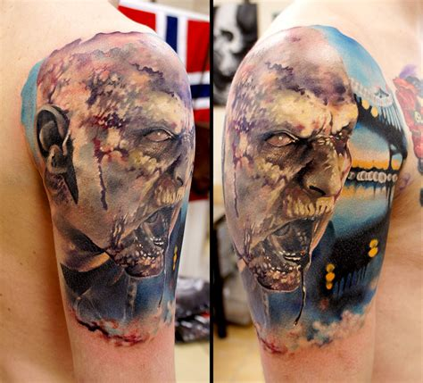 zombie tattoo ink zombie by grimmy3d on deviantart