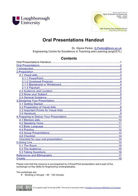 presentation handout template presentations handout